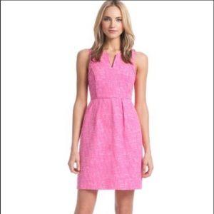 Shoshanna Pink & Cream Tweed Casual Dress Size 6